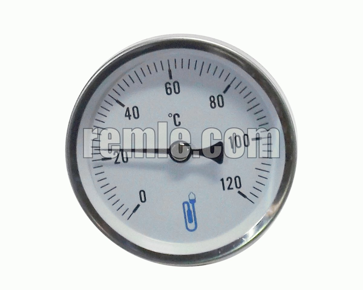 TERMOMETRO INMERSION AXIAL 0-120ºC Ø80MM