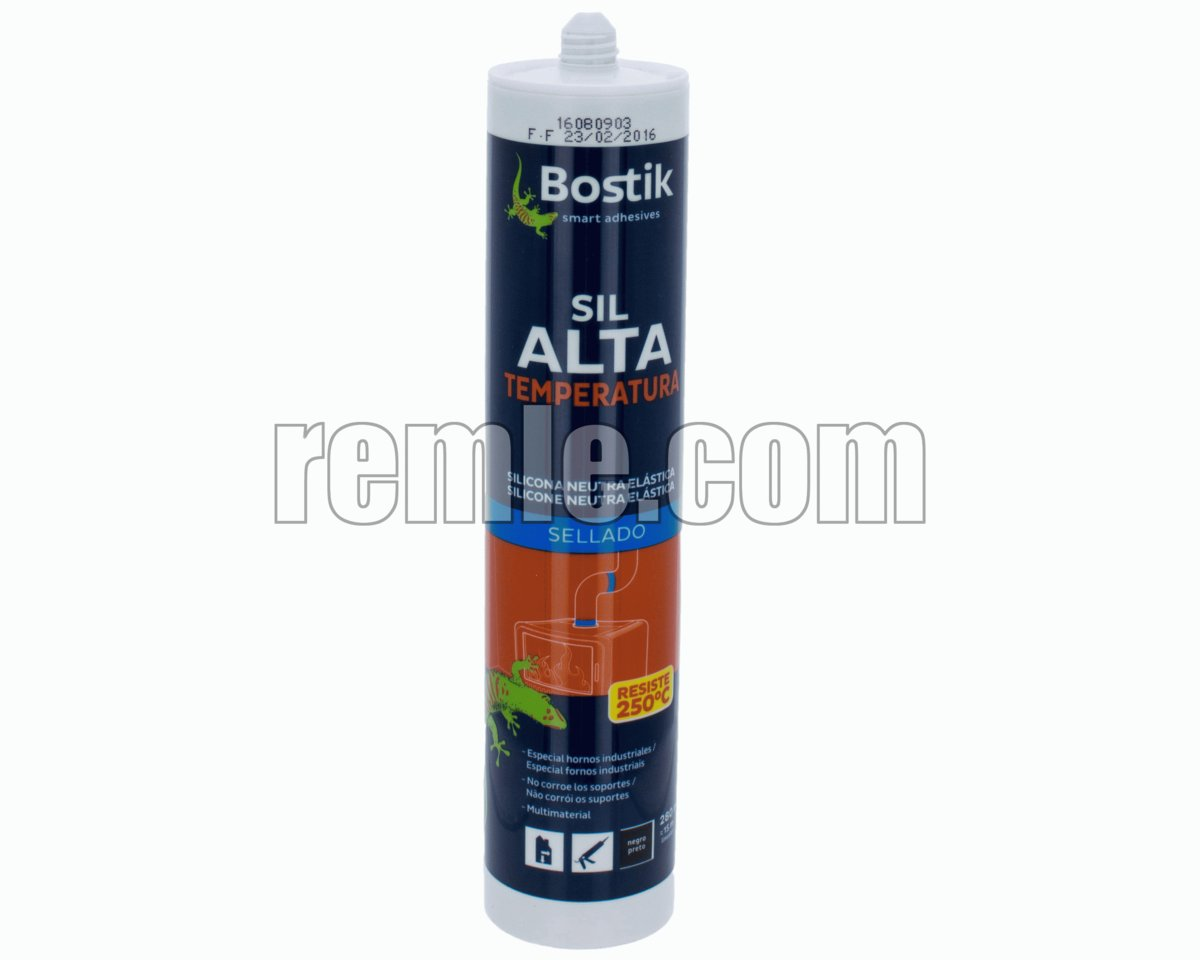 TUBO SILICONA EN COLOR NEGRO 300 ml.