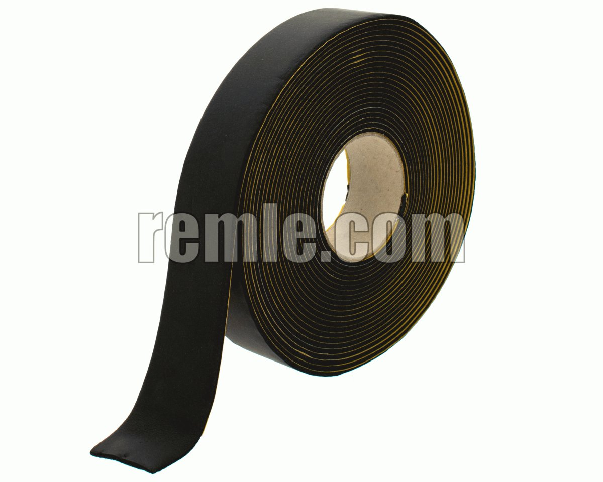 ADHESIVE TAPE 3 mm x 50 mm x 10M BLACK