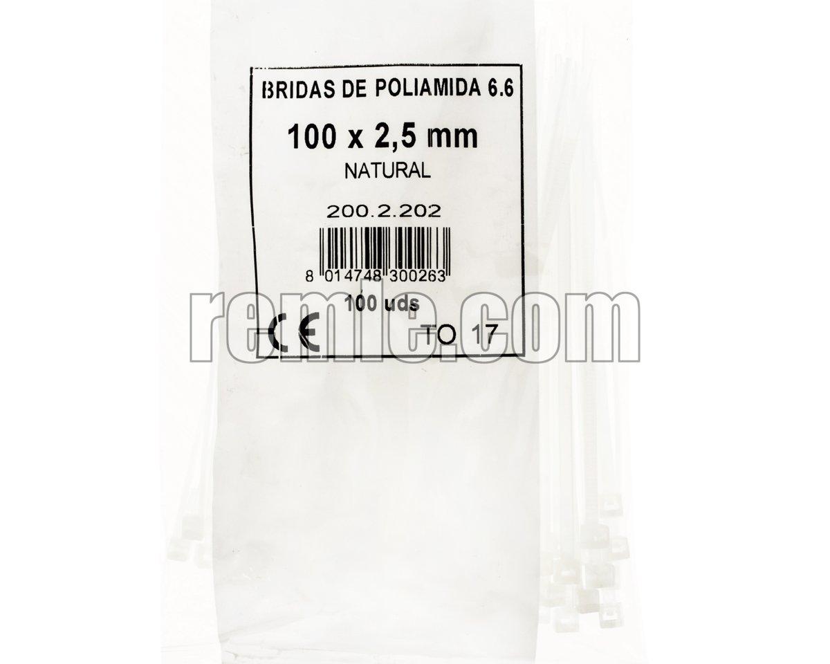 ABRAZADERA NYLON 2,5X100 mm.(1b=100unid)