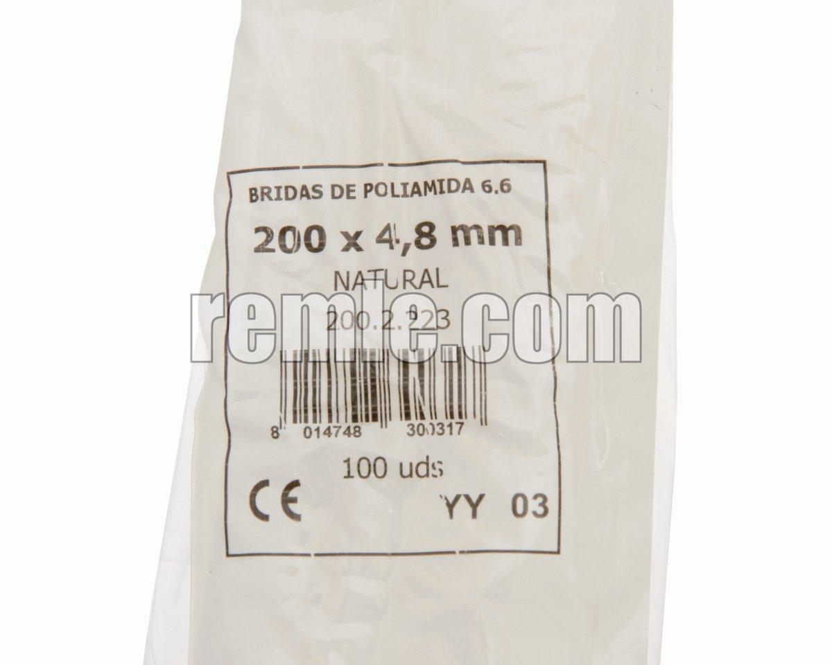 ABRAZADERA NYLON 4,6X200 mm.(1b=100unid)