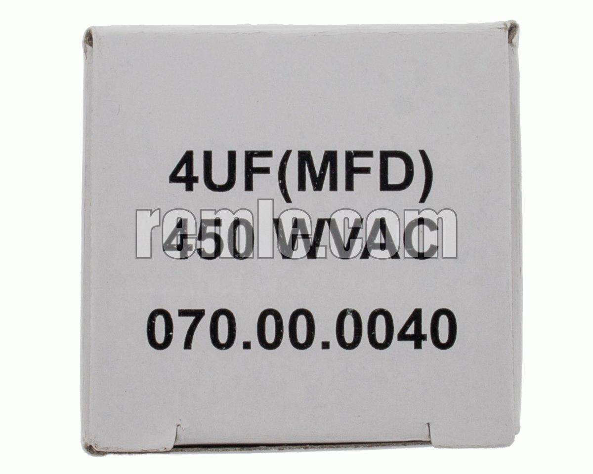 CONDENSADOR TRABAJO 4,0 µF 450V