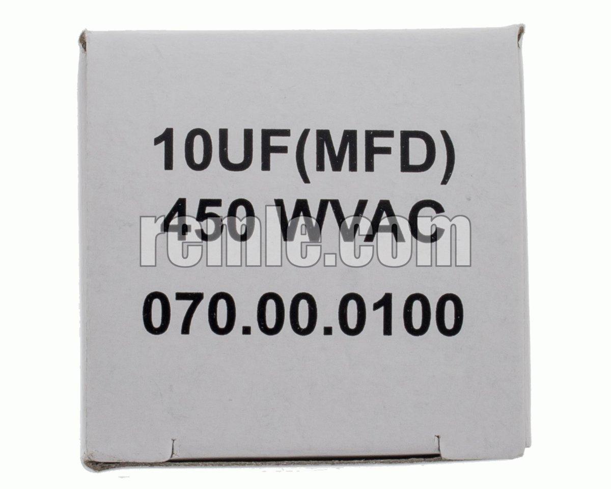 CONDENSADOR TRABAJO 10,0 µF 450V