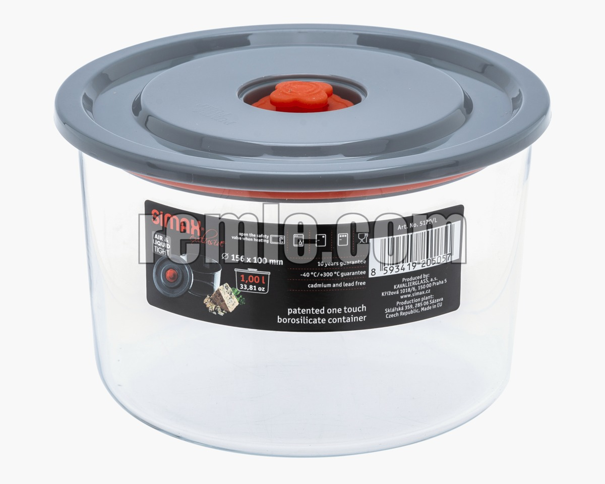 ROUND JAR 1 L. FOR MICROWAVE