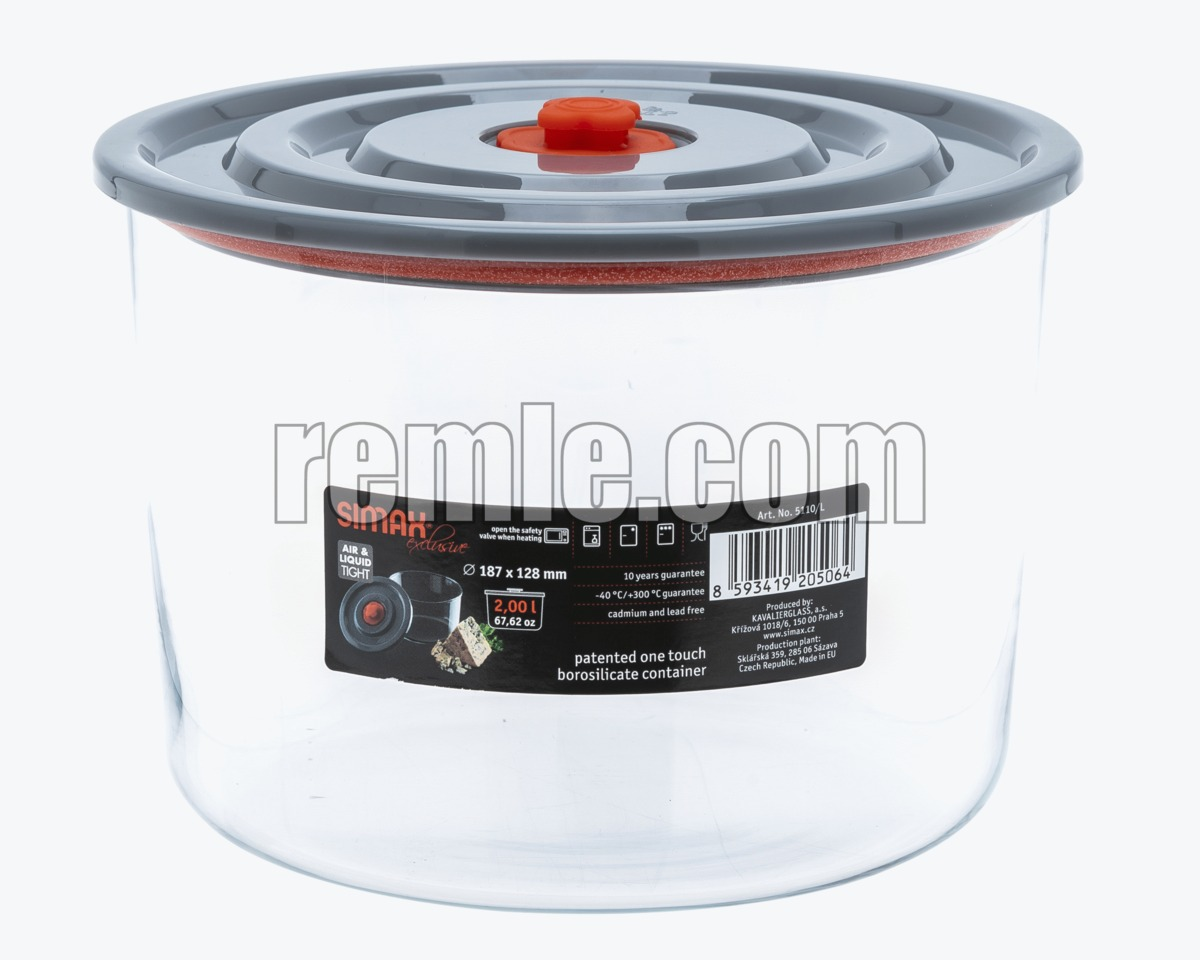 ROUND JAR 2 L. FOR MICROWAVE