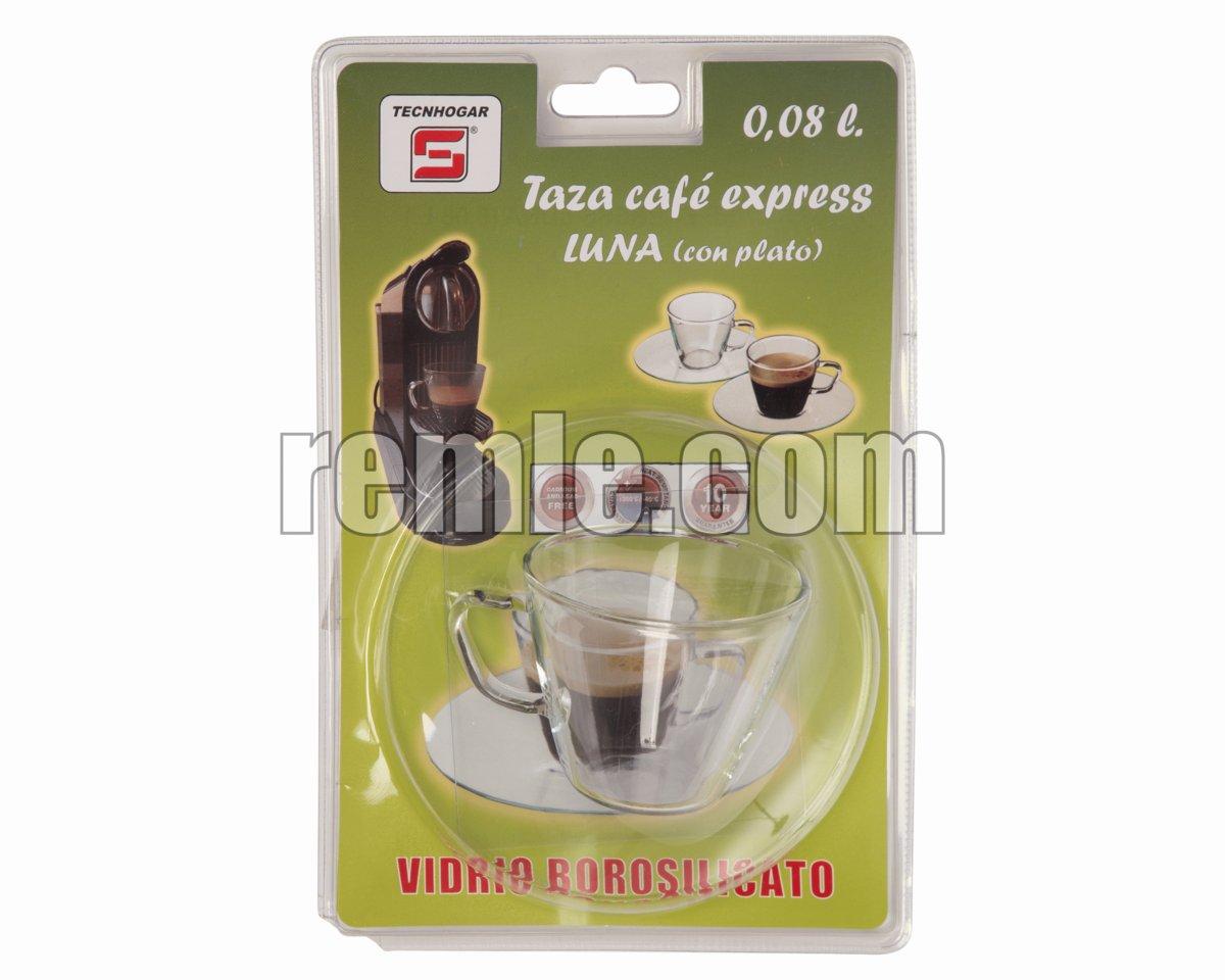 TAZA CAFETERA EXPRESS CON PLATO 0,08 L.