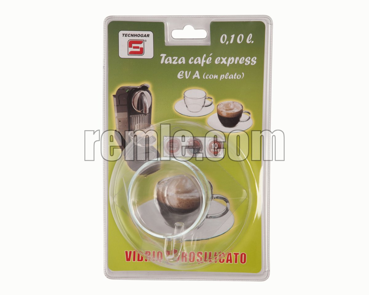 TAZA CAFETERA EXPRESS CON PLATO 0,10 L.